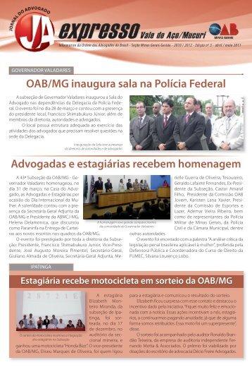 Vale Aço - Mucuri - Ordem dos Advogados do Brasil