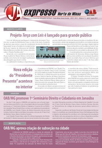 Norte de Minas - Ordem dos Advogados do Brasil