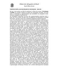 Terceiro Perfil das Sociedades de Advogados - OAB/MG