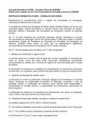 Instrução Normativa 01/2009 – Conselho Pleno da OAB/MG Dispõe ...