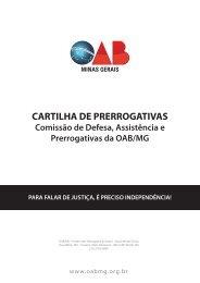CARTILHA DE PRERROGATIVAS - OAB/MG