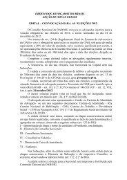 Edital de Convocação das Eleições da OABMG 2012