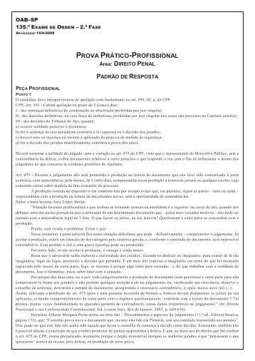 Direito Penal - OAB-SP