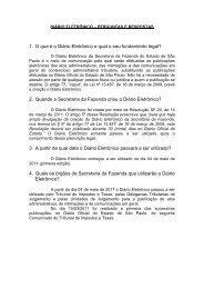DIÁRIO ELETRÔNICO – PERGUNTAS E RESPOSTAS - OAB-SP