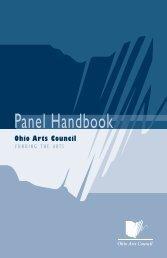 Panel Handbook - Ohio Arts Council