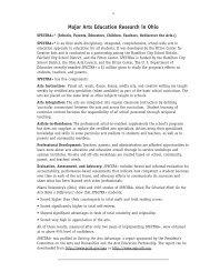 Major Arts Education Research in Ohio - Ohio Arts Council