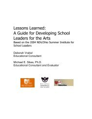 Lessons Learned: A Guide for Developing ... - Ohio Arts Council