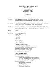 September 27, 2007 Board Meeting - Ohio Arts Council