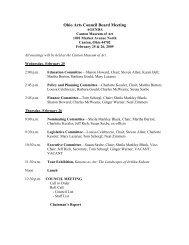 February 25 & 26, 2009 Board Meeting - Ohio Arts Council