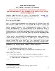 Grant Program Description - Ohio Arts Council