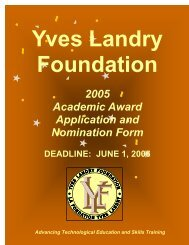 Application Nomination Form 2005 - oacett