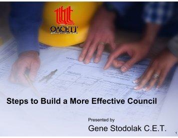 good governance - oacett