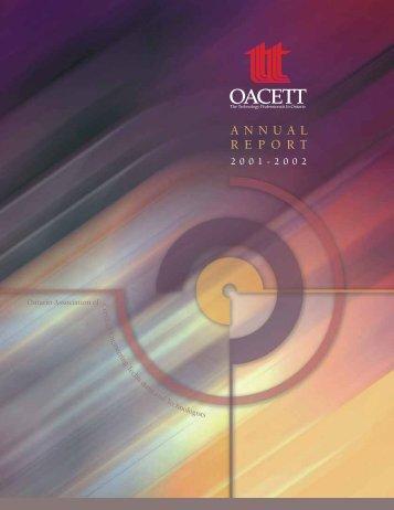 OACETT Annual Report 01.cdr