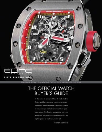 THE OFFICIAL WATCH BUYER'S GUIDE - Elite Traveler