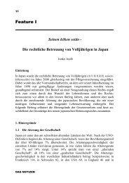 Die rechtliche Betreuung von Volljährigen in Japan - Deutsche ...
