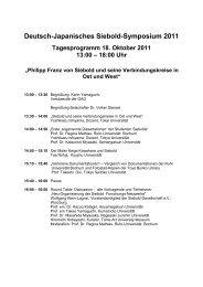 Deutsch-Japanisches Siebold Symposium 2011