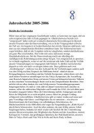 Jahresbericht 2005-2006 - Deutsche Gesellschaft für Natur- und ...