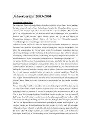 Jahresbericht 2003-2004 - Deutsche Gesellschaft für Natur- und ...