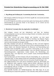 Protokoll der Ordentlichen Hauptversammlung am 24. Mai 2006 1 ...