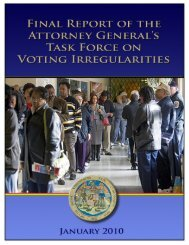 Final Report, January 2010 - Maryland Attorney General