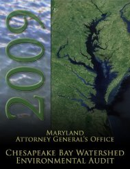2009 Environmental Audit - Maryland Attorney General