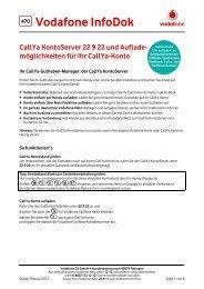 Infodok 470: Callya Kontoserver (22 9 22) und Auflade - Vodafone