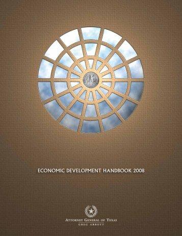 economic development handbook 2008 - Texas Attorney General