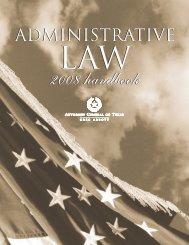 Administrative Law Handbook - Texas Attorney General
