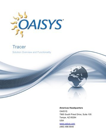 Tracer Overview White Paper - Oaisys