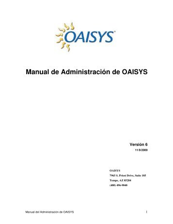 Manual de Administración de OAISYS