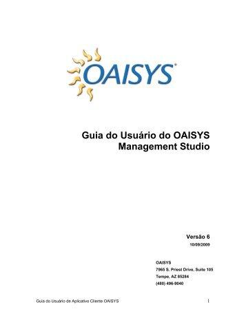 Guia do Usuário do OAISYS Management Studio