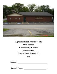 Agreement for Rental of the Oak Forest ... - City of Oak Forest