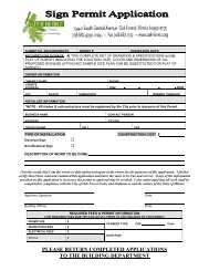please return completed applications to the ... - City of Oak Forest