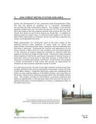 V. OAK FOREST METRA STATION SUB-AREA - City of Oak Forest
