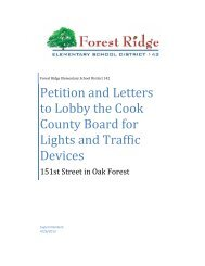 Petition and Letters to Lobby the Cook County ... - City of Oak Forest
