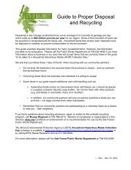 Guide to Proper Disposal and Recycling - City of Oak Forest