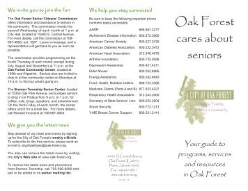 Senior guide revised 1008 60:Layout 1.qxd - City of Oak Forest