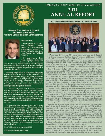 2011 ANNUAL REPORT - Oakland County