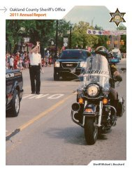 Oakland County Sheriff's Office 2011 Annual Report