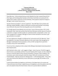 No-Fault Reform Testimony - Oakland County