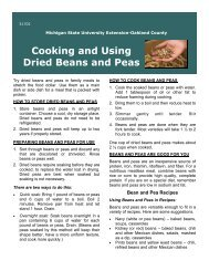Cooking and Using Dried Beans and Peas - Oakland County