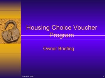 New Owner Briefing - Oakland Housing Authority