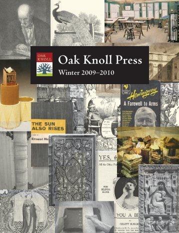 PUBLISHERS - Oak Knoll Books
