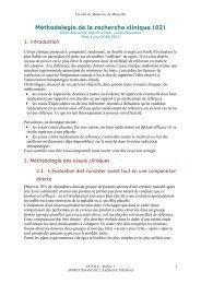 Méthodologie de la recherche clinique (02) - Serveur pédagogique ...