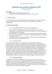 Anémies par carence martiale (222) - Serveur pédagogique de la ...