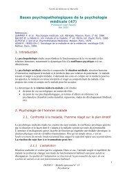 Bases psychopathologiques de la psychologie médicale (47)