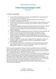 Coma non traumatique (230) - Serveur pédagogique de la Faculté ...