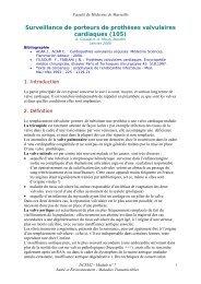 Surveillance de porteurs de prothèses valvulaires cardiaques (105)