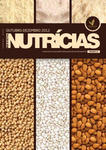 outubro-dezembro 2012 - Associação Portuguesa dos Nutricionistas