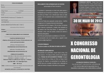 x congresso nacional de gerontologia - Associação Portuguesa dos ...